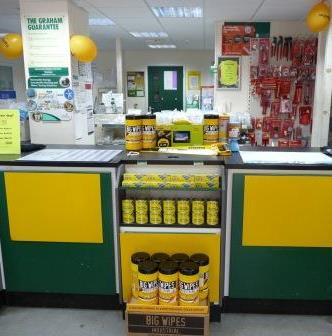 Graham Plumbers' Merchant Yellow Charity Day with Big Wipes