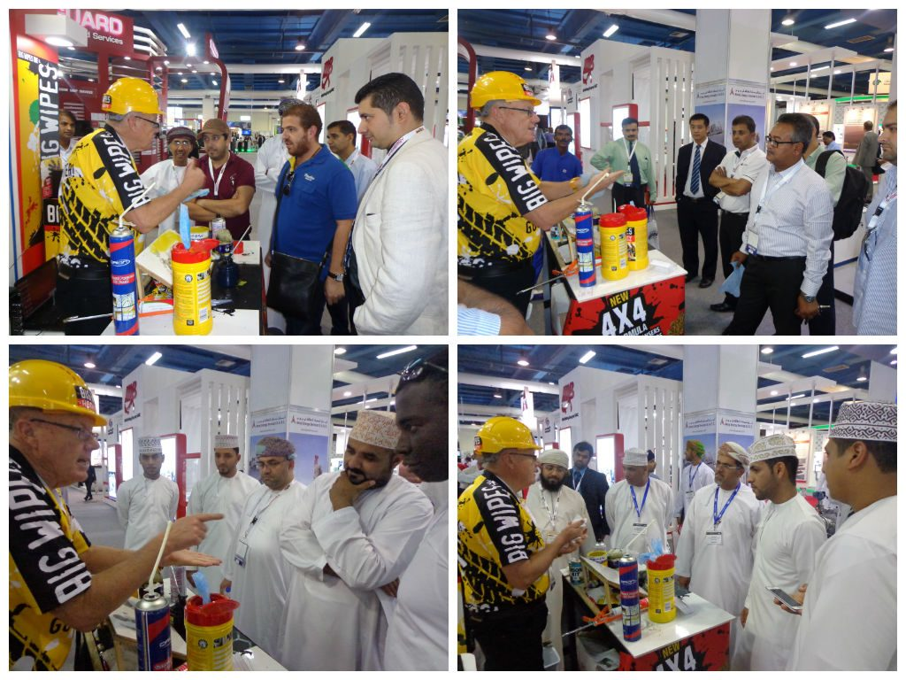 Oman exhibition with Big Wipes