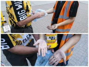 CEF Summer Trade Show in Bradford with Big Wipes before and after clean