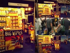Big Wipes Stand Toolfair Elex Coventry
