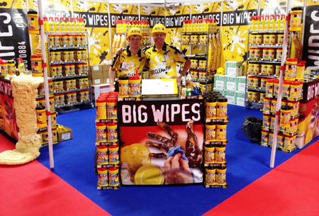 Screwfix LIVE Trade and DIY show 2014 Big Wipes stand