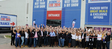 Screwfix LIVE Trade and DIY show 2014 with Big Wipes Punters