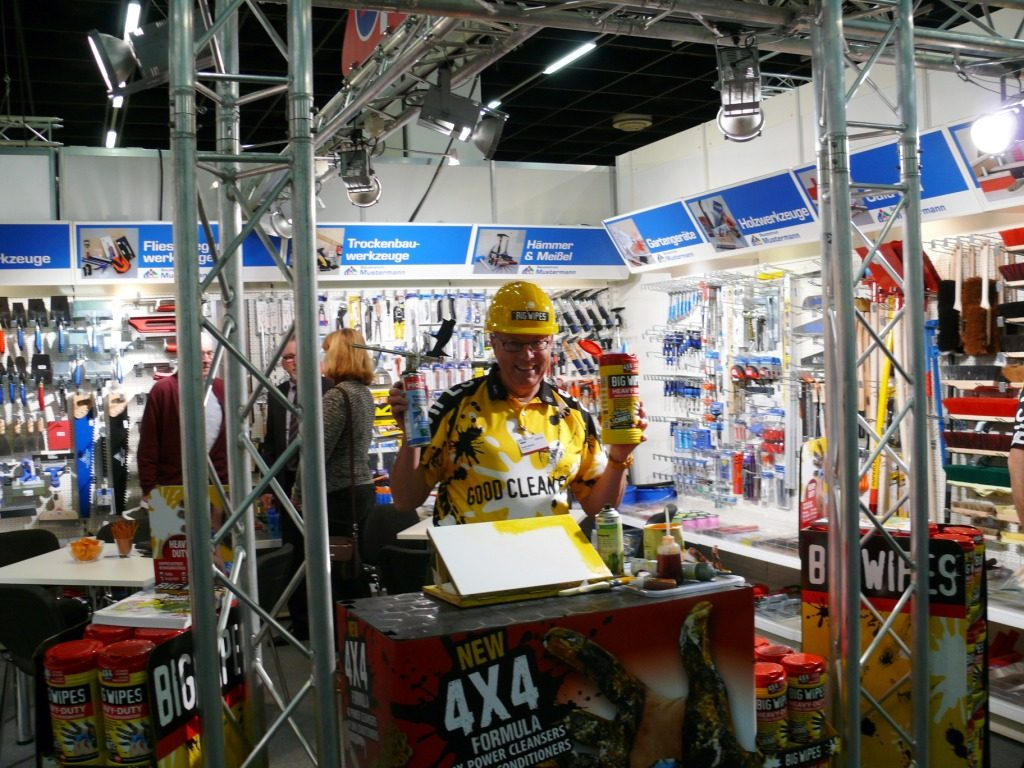 Eurobaustoff Forum Germany 2014 mit Big Wipes DH on stand