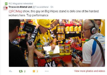 RCI Show 2014 - Big Wipes were a Big Hit Trace in Metal Tweet