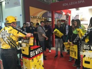 Italian exhibition with Big Wipes