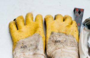 Gloves antibacterial wipes