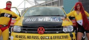 Big Wipes Superheroes and Big Wipes van