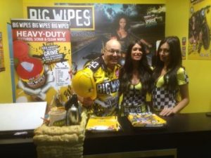 Big Wipes at Eicma 2015 Milan with Ladies back