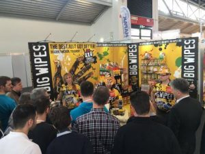 Big Wipes stand being swamped