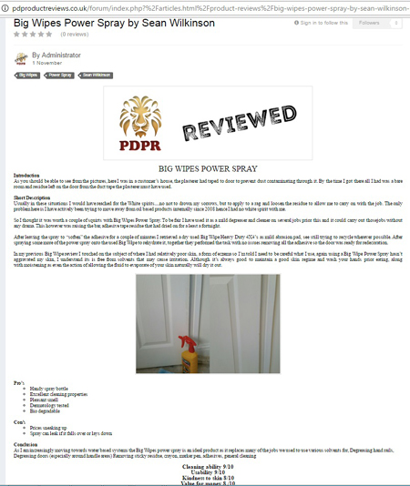 Power Spray Review Sean Wilkinson