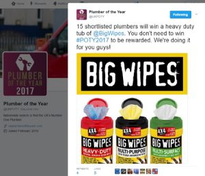 Plumber_of_the_Year_2017_Tweet