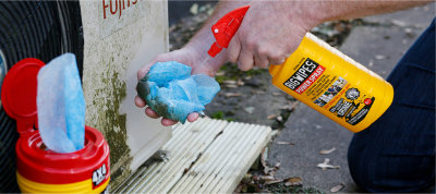 Heavy Duty cleaning wipes and Power Spray