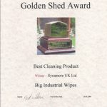 Big Wipes win Golden Shed Award