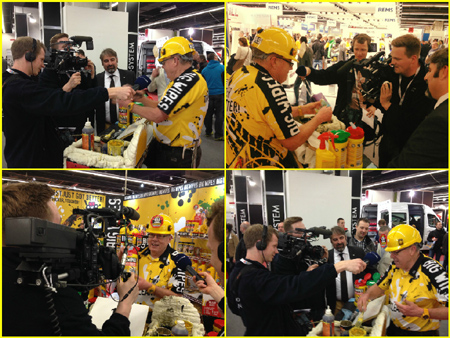 ISH 2015 with the Big Wipes team