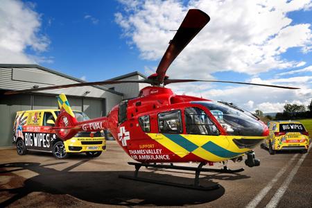 Swimarathon Thames Valley Helicopter and Big Wipes Van