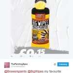 Big Wipes are his favourite product