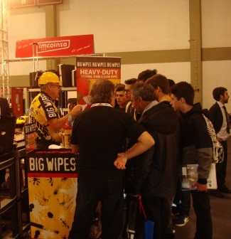 EMAF 2014 - Portuguese Exhibition Big Wipes busy stand