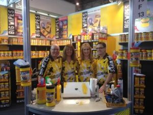 A+A Safety Security and Health Show 2013 with Big Wipes stand