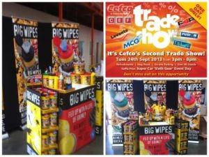 Cefco Trade Show - Huge success with Big Wipes Collage