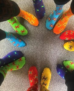 World Down Syndrome Day 2019 in the Big Wipes office lots of socks