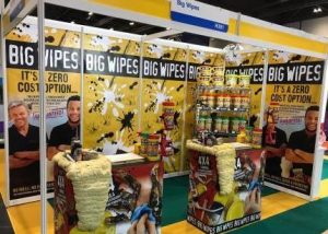 Big Wipes stand