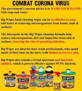 Coronavirus Big Wipes