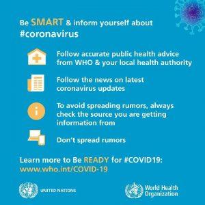 WHO be Smart Corona