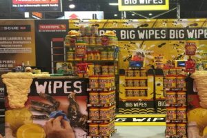 Big Wipes stand