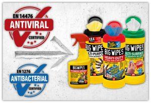 Big Wipes are antiviral