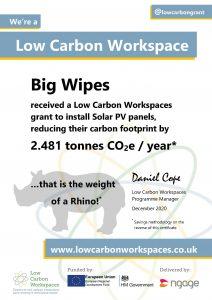Low Carbon Workspace Big Wipes