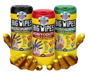 The Big Wipes Antiviral Range